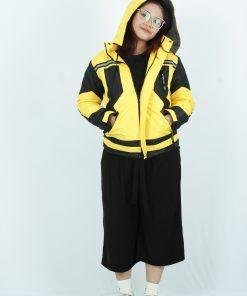 Jaket Outdoor Parasut Wanita Cewek warna Kuning